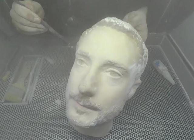 Cabeza impresa 3D para burlar sistemas de identificación facial imagen