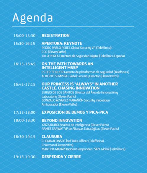 Agenda Security Innotavion Day 2018 imagen