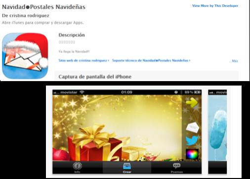 App para hacer postales de navidad con fotos