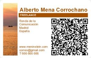 Ejemplo de tarjeta de visita con QR