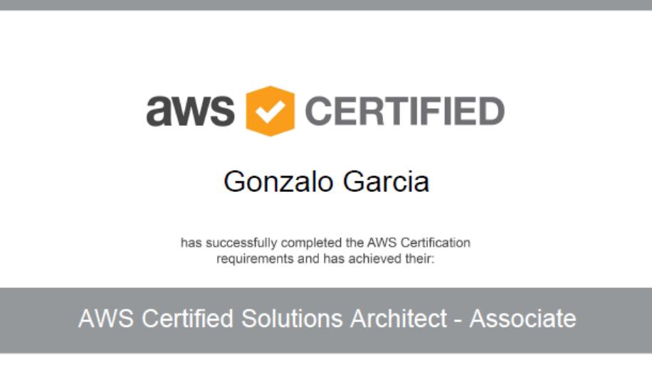 certificarse con éxito en la cloud de Amazon