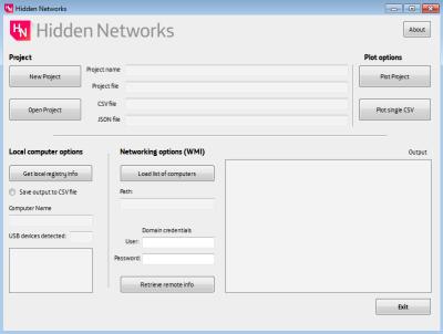 Panel principal de Hidden Networks PoC imagen