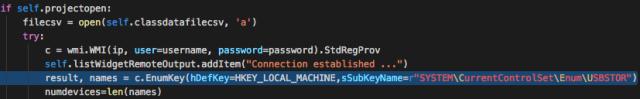 Acceso a las sub-ramas de la rama principal que contiene los datos del USB imEN