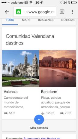 Google Destinations ya está disponible