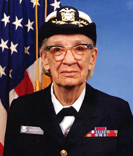 grace hopper in military attire