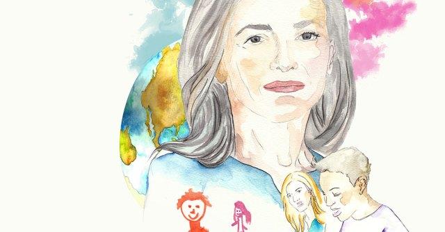 Ilustración de Sheryl Sandberg