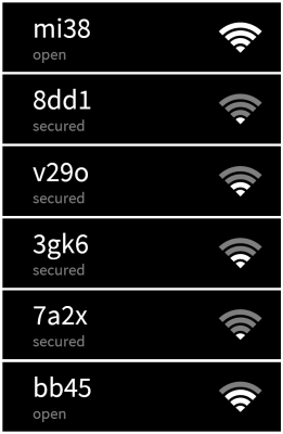 Listado redes WiFi imagen