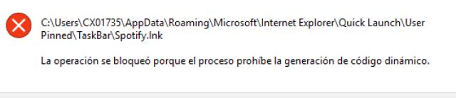 programa que no puede lanzarse porque no se permite ACG imagen