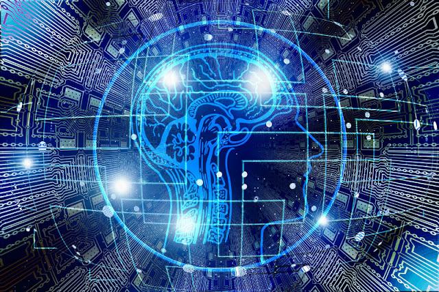 Imagen de una cabeza humano futurista