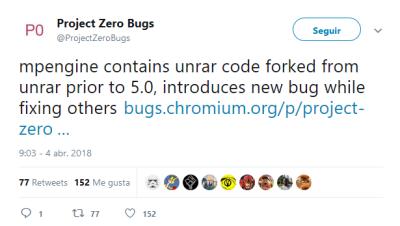 Proyect Zero Bugs twitter imagen