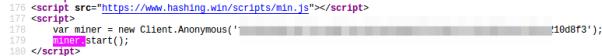 Imagen carga de un fichero de minado externo realizada en el sitio web thepiratebay.red