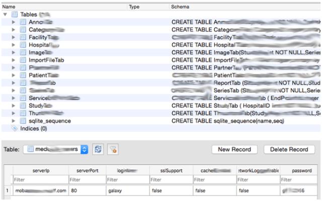 Bases de Datos SQLite con estructuras que almacenan contraseñas en texto plano imagen