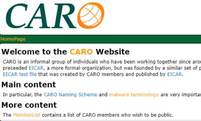 Webpage CARO