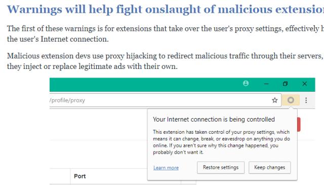 Imagen: Alertas de seguridad Chrome