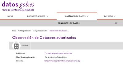 Figura 1: Portal de datos abiertos del Gobierno de Canarias.