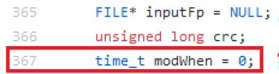 Setting modWhen in aapt code imagen