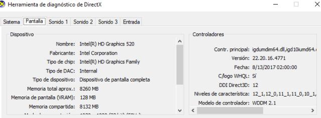 sistema con WDDM 2.1 imagen