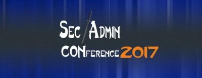 SEC/ADMIN 2017 Conference 2017