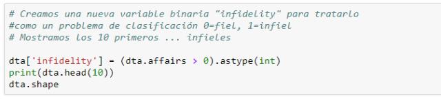 """Definición de la variable objetivo """"infidelity""""."""