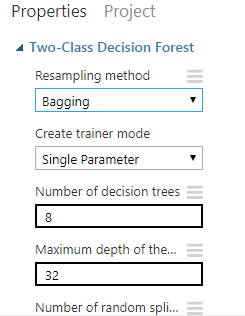 Figura 10: Menú de ajuste de parámetros del modelo.