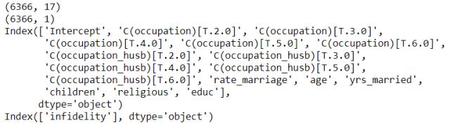 Código para comprobar las dimensiones de las matrices.
