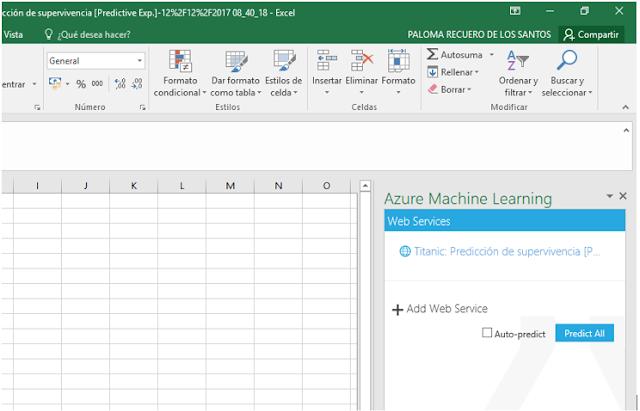 Figura 13: Llamada a la API desde Excel.