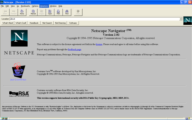 Foto de pantalla de Netscape Navigator 2.0 bug bounty imagen