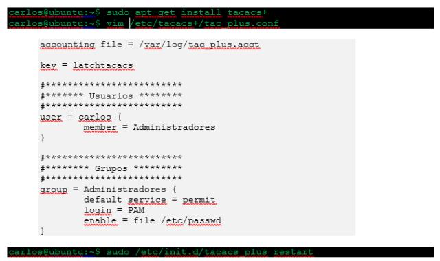 Instalación y Configuración Básica de Servidor TACACS+ imagen