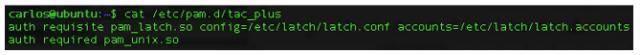 Configuración de archivo tac_plus para interacción con Latch & módulo PAM imaegn