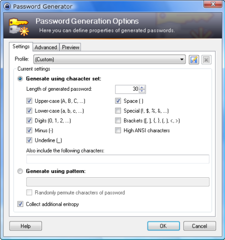 Keepass - Generate password