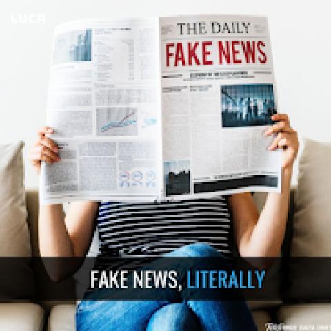 Fake news, literally