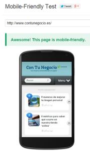 mobile-friendly test CTN