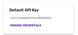 Clave API por defecto.
