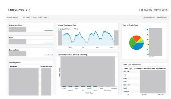 Panel Site Overview - Google Analytics