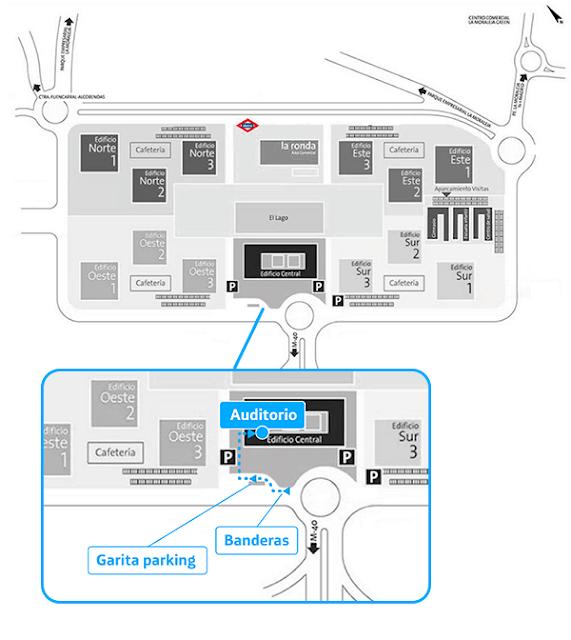 Auditorio Central de Distrito Telefónica mapa imagen