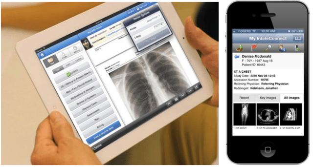 Aplicaciones móviles para comunicación con Servidores PACS imagen