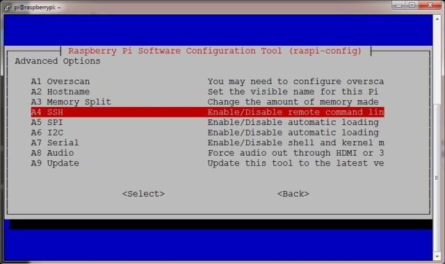 Activando SSH en Raspberry imagen