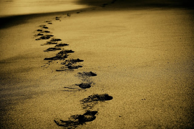 Imagen pasos en la arena