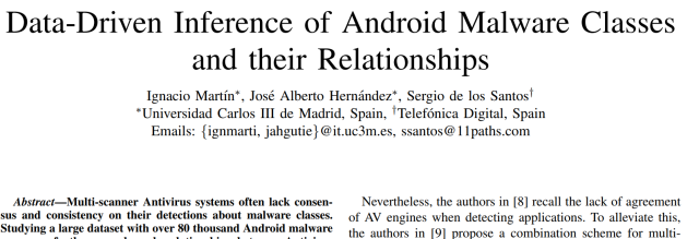 Data Driven Inference of Malware text
