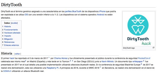 Dirtytooth en wikipedia imagen