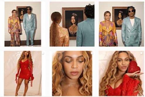 Feed con fotos del perfil de Beyonce en Instagram