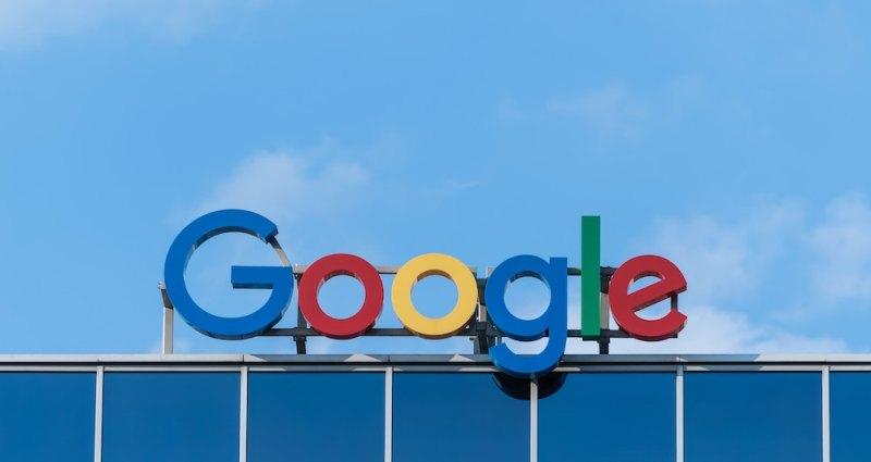 Google letrero