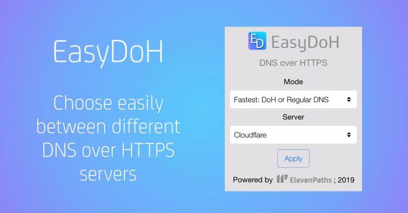Actualizamos la extensión EasyDoH con mejoras y funcionalidades