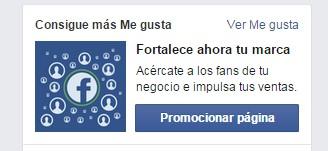 Promocionar tu página de Facebook