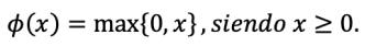 Fórmula de la función rectificadora