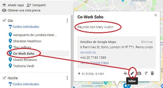 anotaciones mapa google