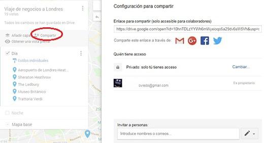 compartir mapa amigos