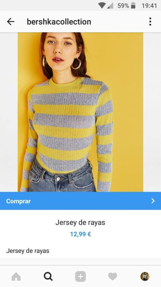 comprar producto con Instagram Shopping